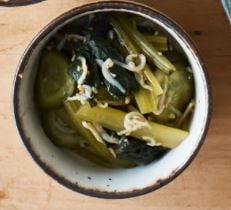 青菜の中華じゃこ和え-1