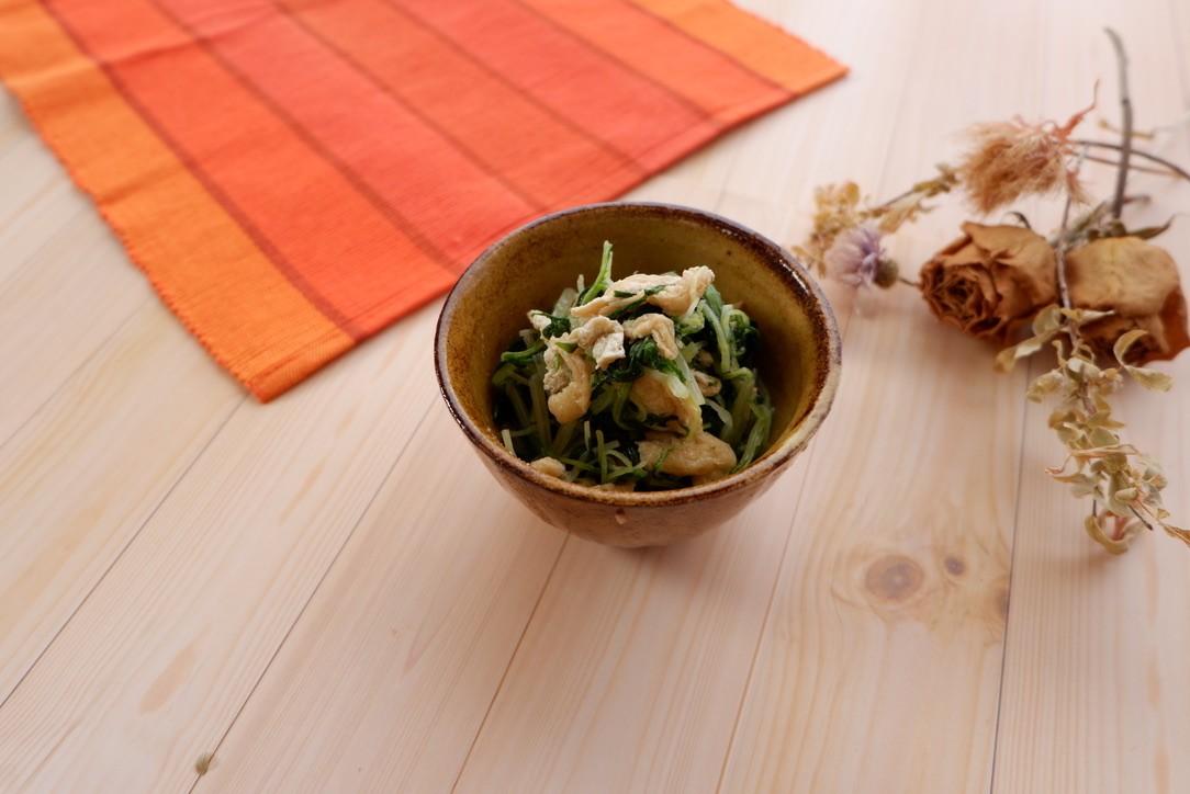 水菜と油あげのサッと煮