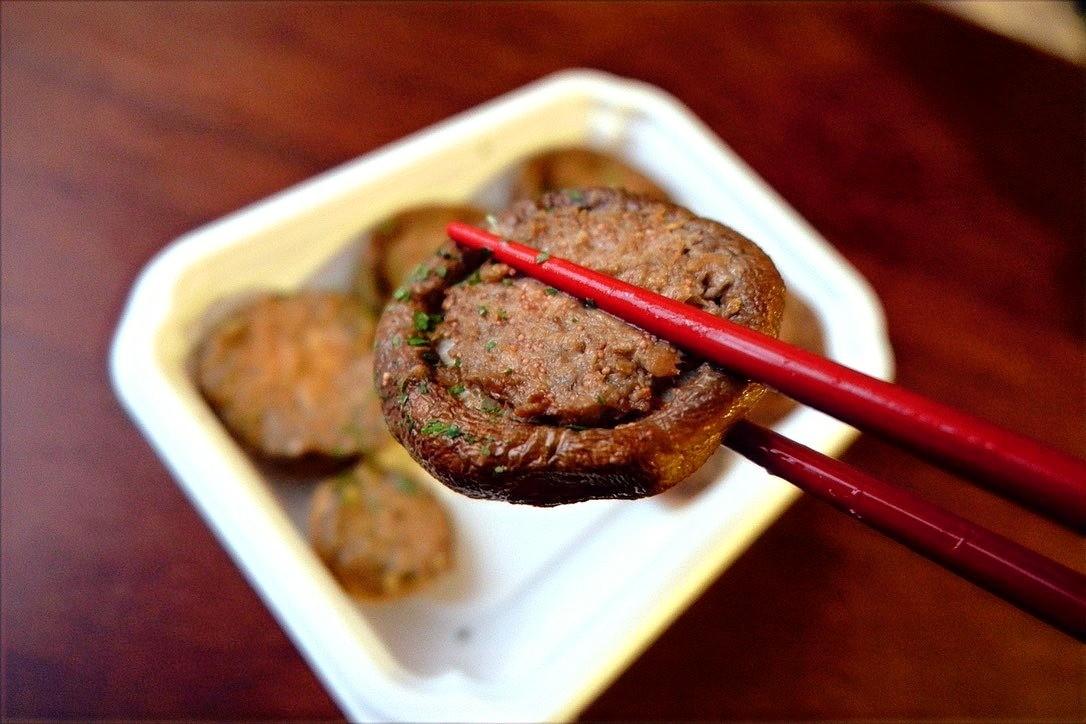 シイタケとマッシュルームのたらこマヨ焼き