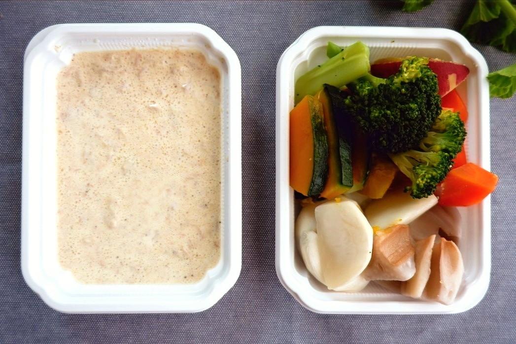 蒸し野菜のツナソース